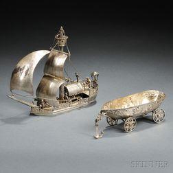 German Silver-gilt Nef