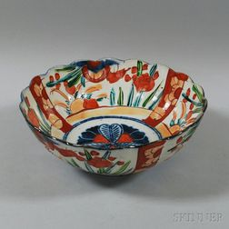 Japanese Imari Fluted Bowl
