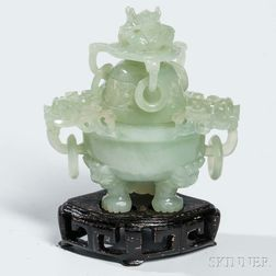 Small Hardstone Covered Censer