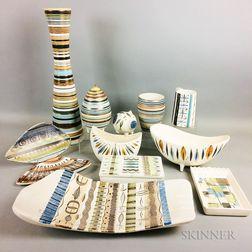 Twelve Pieces of Sascha Brastoff Pottery