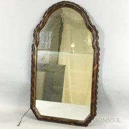 Molded Gilt and Painted Mirror
