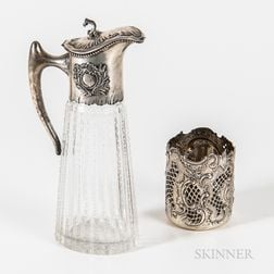 Two Pieces of Austrian Silver Tableware