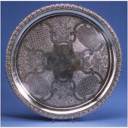 English George IV Silver Salver