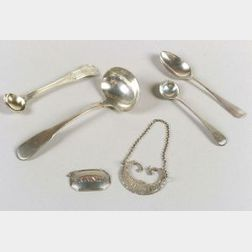 Twelve Small English Silver Tablewares