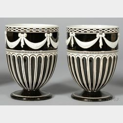 Pair of Wedgwood White Terra Cotta Stoneware Vases