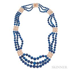 18kt Gold and Lapis Necklace
