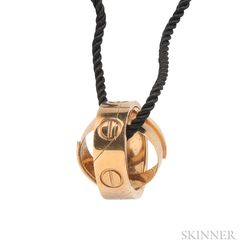 "18kt Gold ""Astrolove"" Ring/Pendant, Cartier"