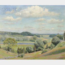 William McGregor Paxton (American, 1869-1941)      Summer Vista
