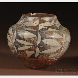 Acoma Polychrome Pottery Olla