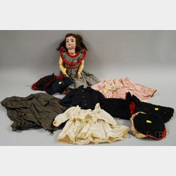 Kestner 129 Bisque Head Doll with Extra Outfits
