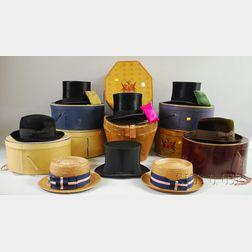 Eight Vintage Men's Hats
