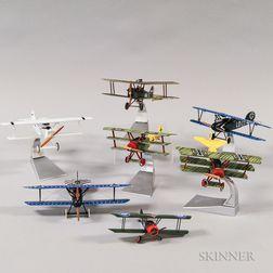 Seven Corgi Diecast Airplanes