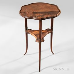Two-tier Emile Galle Marquetry Stand