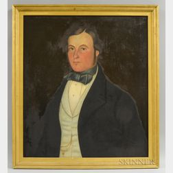 American School, 19th Century       Portrait of a Man.