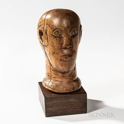 Carved Head Sculpture