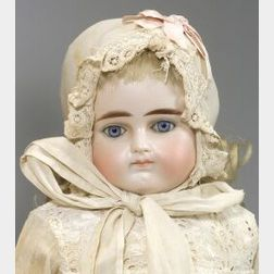 Closed Mouth German Bisque Turned Shoulder Head Doll