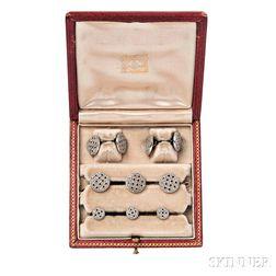 Art Deco Diamond and Onyx Dress Set, J.E. Caldwell