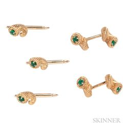 18kt Gold and Emerald Dress Set, Schlumberger, Tiffany & Co.