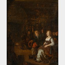 School of Teniers (Flemish, 17th/18th Century)      Interior Scene