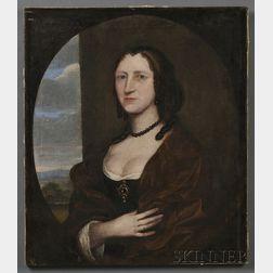 British School, 17th Century      Portrait of Mrs. Adam Winthrop.
