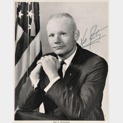 NASA Astronaut Neil Armstrong Autographed Portrait Photograph Print