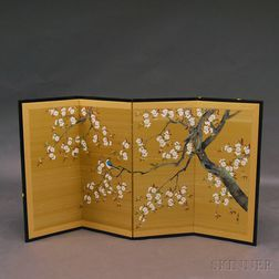 Hand-painted Decorative Japanese Screen