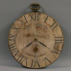 Painted Wooden Pocket Watch-form Trade Sign