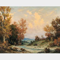 Michael P. Sherlingh (American, 1893-1943)      Autumn Landscape