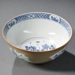 Cafe-au-lait Decorated Chinese Export Porcelain Bowl