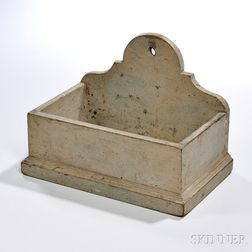 Gray-painted Chestnut Wall Box
