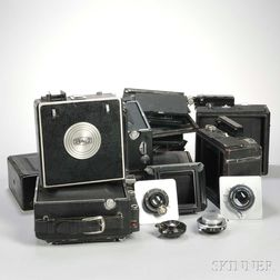 Collection of Press Camera Parts