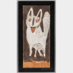 "James ""Buddy"" Snipes (American, 1943-)      Outsider Art Dog Portrait"