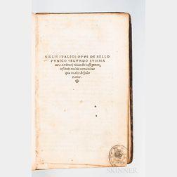 Silius Italicus (c. 28-c. 103 CE) De Bello Punico Secundo Summa cura Ambrosii Nicandri Castigatum.