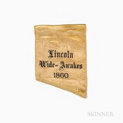 """Lincoln Wide-Awakes"" Campaign Ribbon Fragment"