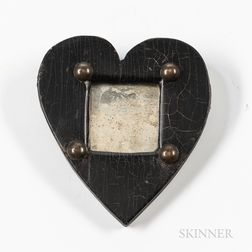 Ebonized Miniature Heart-form Mirror
