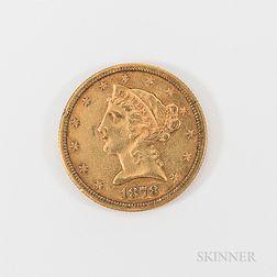 1878 $5 Liberty Head Gold Half Eagle