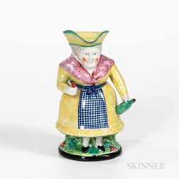 Gin Lady Pearlware Toby Jug