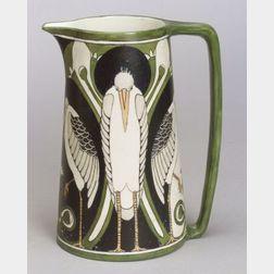Willetts Manufacturing Co. Art Nouveau Ceramic Pitcher