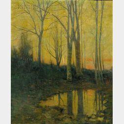 Arthur Hoeber (American, 1854-1915)      View of Nutley, New Jersey