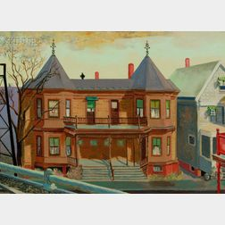 Edmund Quincy (American, 1903-1997)      West Side Houses  /  A Boston View