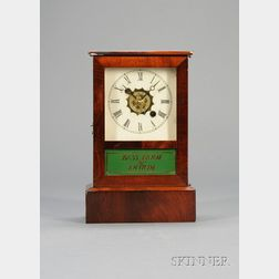 Mahogany and Pine Cottage Clock