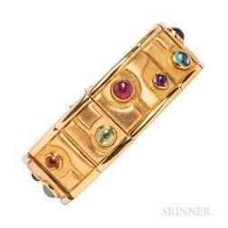 Burle Marx 18kt Gold Gem-set Bracelet