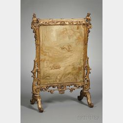 French Rococo Revival Fire Screen
