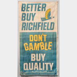 """Better Buy Richfield"" Canvas Sign"