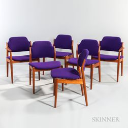 Six Arne Vodder Dining Chairs for Sibast