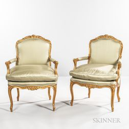 Pair of Giltwood Fauteuils