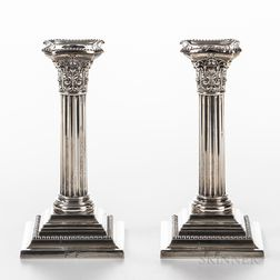 Pair of Gorham Sterling Silver Weighted Candlesticks