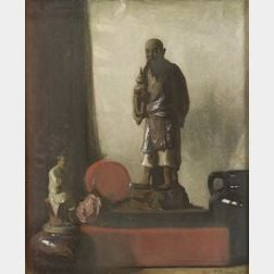 Leslie Prince Thompson (American, 1880-1963)  Still Life with Asian Figurine