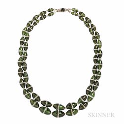 Art Deco Green Tourmaline and Rock Crystal Double-strand Necklace