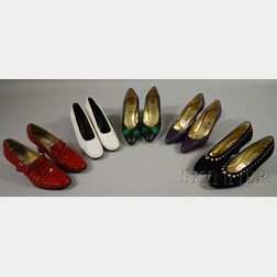 Five Pairs of Women's Shoes